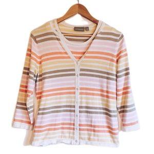 5/20$ 2pc Striped Cardigan & Tank Sweater NWOT